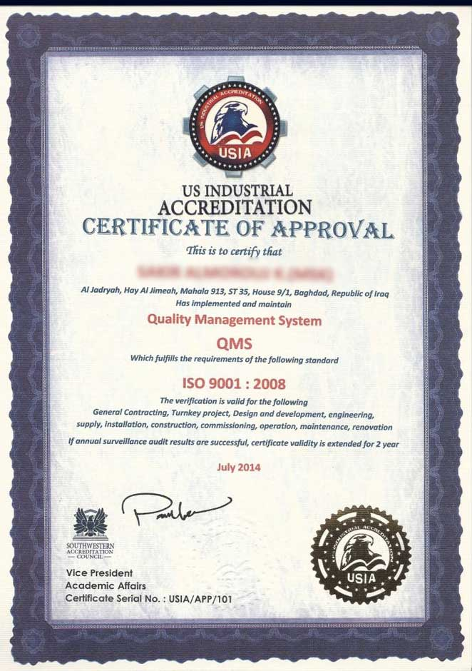 US Industrial Accreditation (USIA)