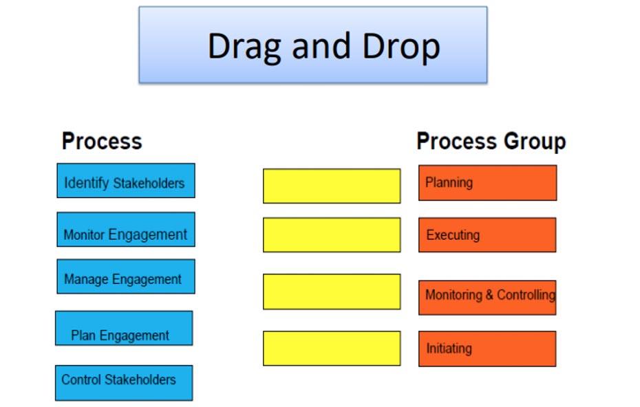 مثال لأسئلة Drag and Drop