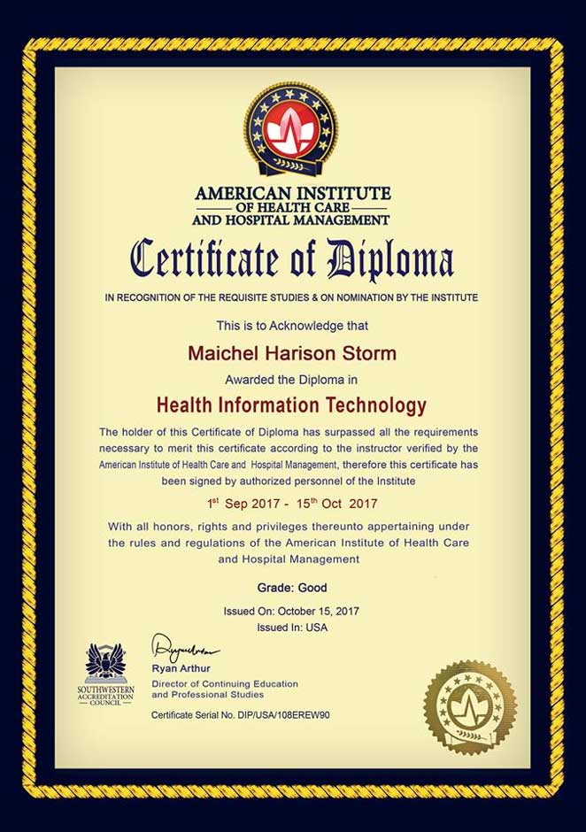 American Institute of Healthcare and Hospital Management