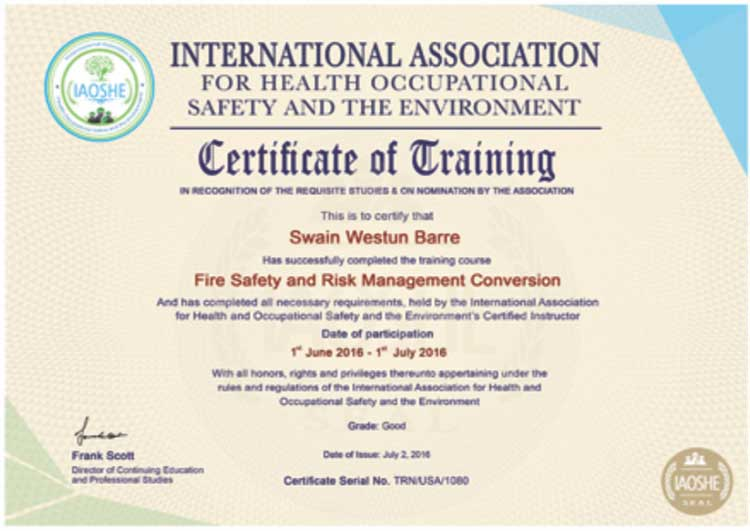 International Association for Health, Occupational Safety & Environment